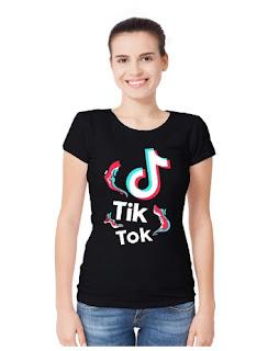 TIK Tok Wave Round Neck T-Shirt