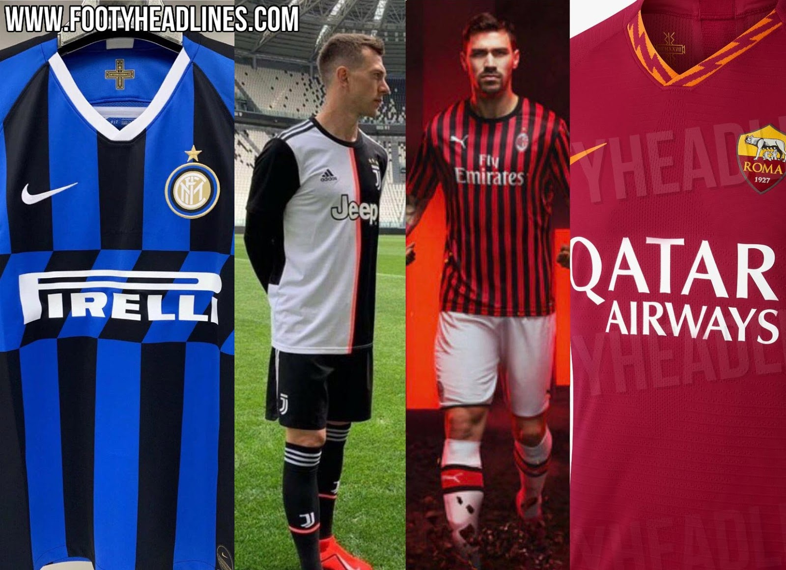 Juventus, AC Milan, Inter & Roma - All Serie A 2019-20 Home