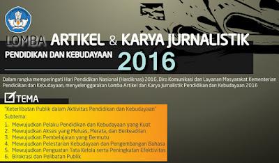Lomba Artikel dan Foto Kemdikbud