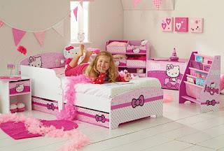 Gambar Kamar Hello Kitty Warna Pink 2