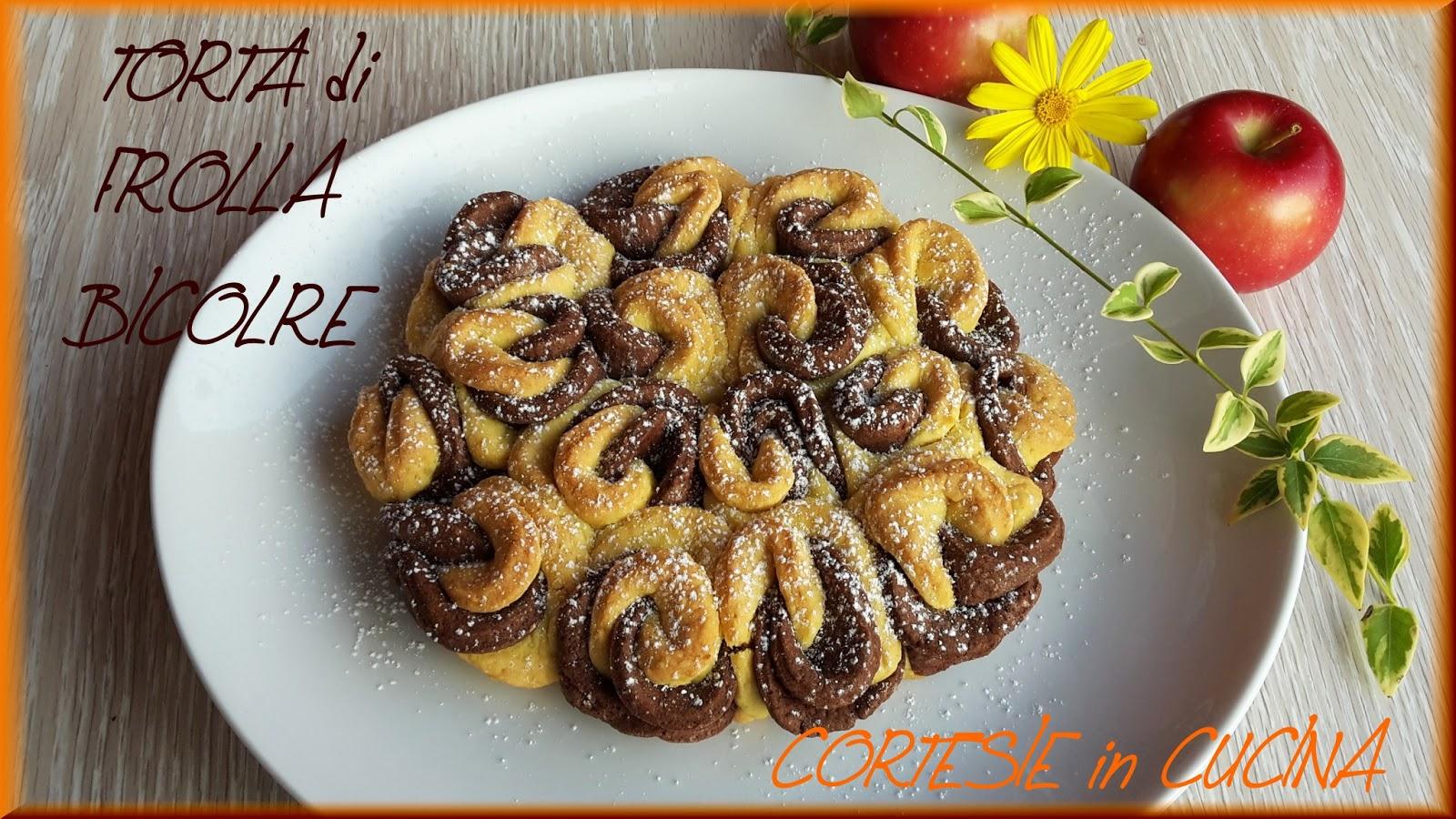 Torte Da Credenza Ricette : Cortesie in cucina: torta di frolla con intrecci bicolore