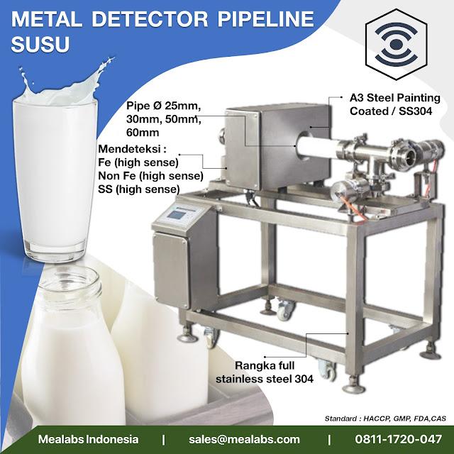 metal detector untuk susu