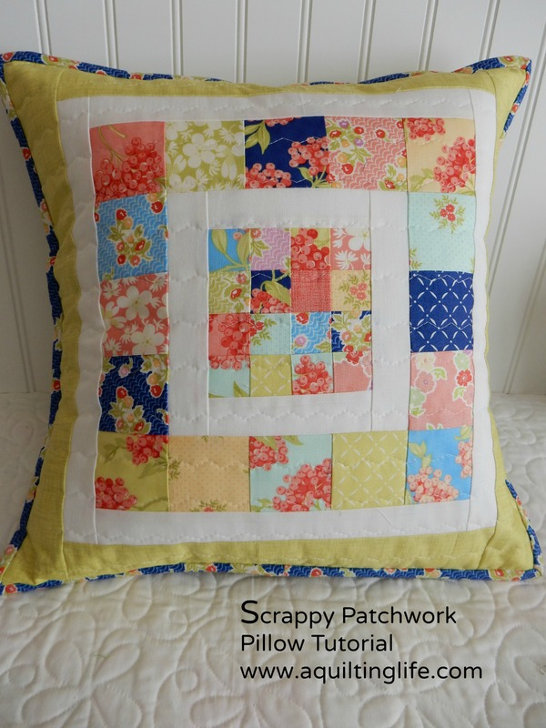 http://www.aquiltinglife.com/2015/01/scrappy-patchwork-pillow-tutorial.html