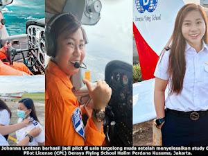 Pilot Perempuan Veneyzia Lontaan Ajak Milenial Sulut Berani Melangkah Raih Cita-Cita