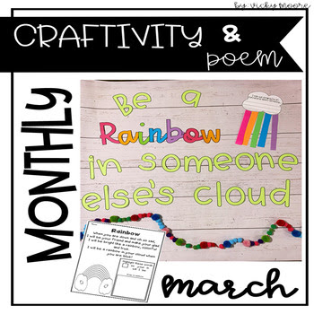 March poem, bulletin board and craft