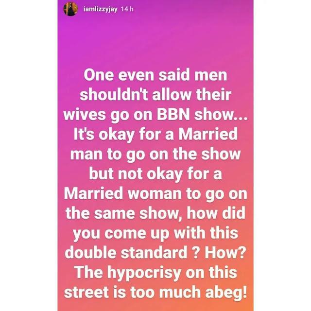 #BBNaija Go back to your Ibadan comedy– Fans slams Lizzy Jay as she strikes Dotun over Tega and Boma
