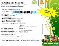 Loker Surabaya di PT. Kartini Teh Nasional Terbaru Desember 2019