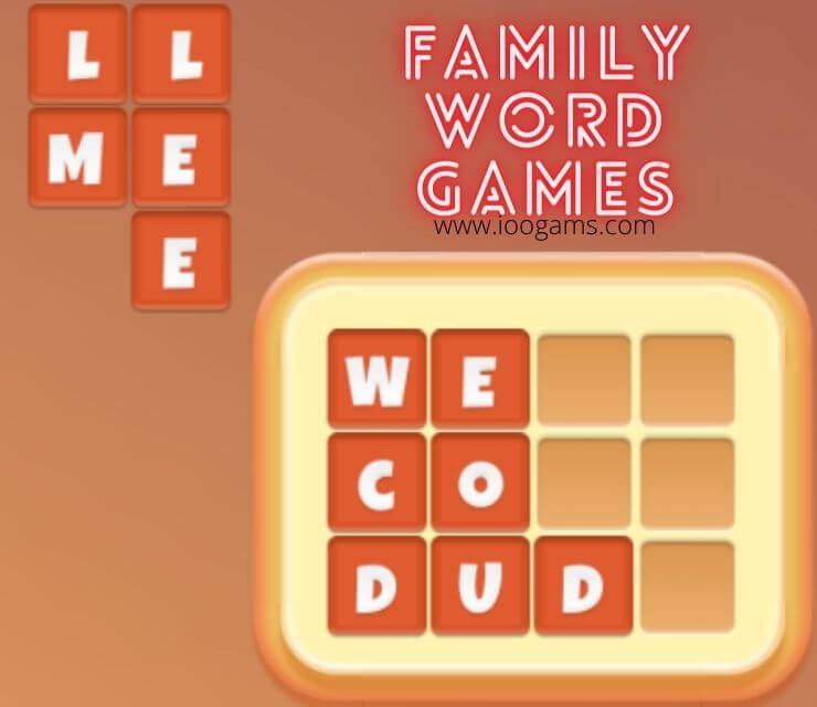 Family word games,education games,kids game
