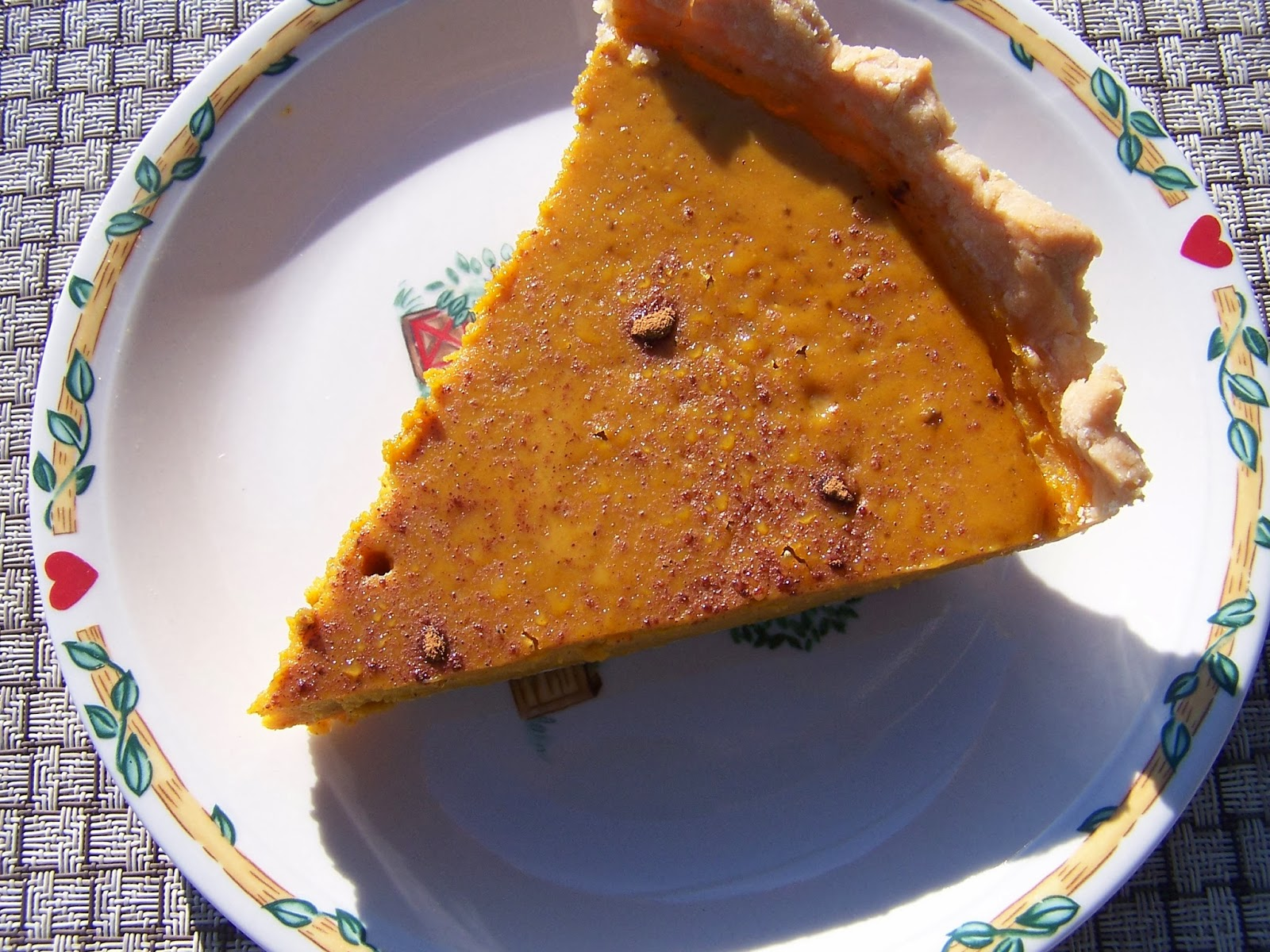 Organic Gluten Free Pumpkin Pie made with roasted squash