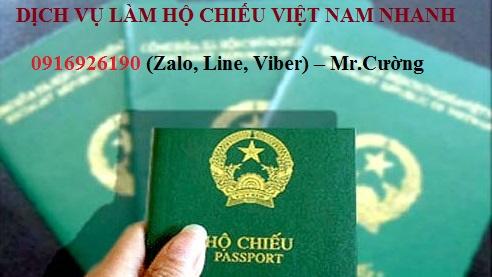 Dịch vụ làm hộ chiếu Việt Nam Nhanh