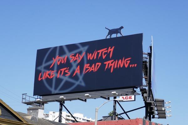 Sabrina cat cut-out billboard