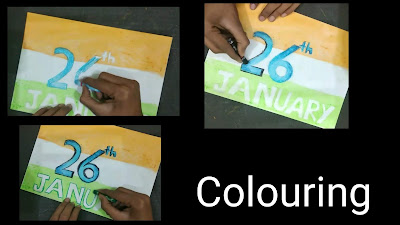 Step by step tutorial,Republic day drawing, Republic Day images ,2019 republic day ,how to draw poster drawing for Republic Day ,School drawing ,Soft Board drawing, easy drawing for kids, step by step tutorial ,oil pastel drawing for Republic Day