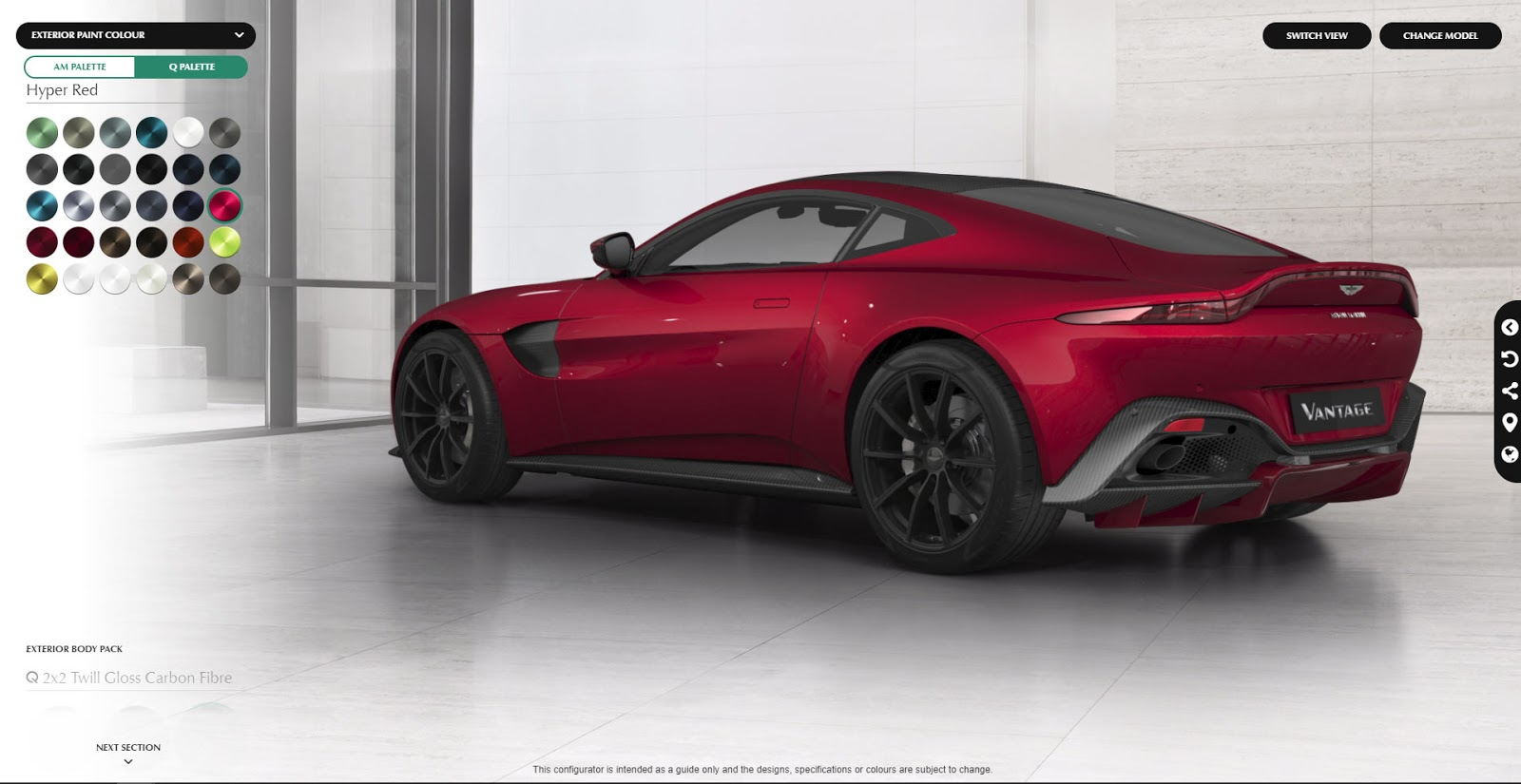 create your perfect aston martin vantage with new configurator carscoops. Black Bedroom Furniture Sets. Home Design Ideas