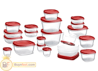 Rubbermaid 42-Piece, Plastic Food Storage Container