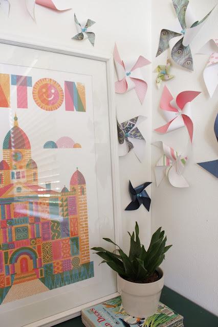 Pinwheel wall art decor | House Homemade