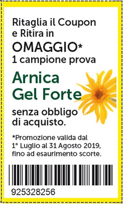 Arnica gel forte: campione gratis Mia Farmacia (Luglio-Agosto 2019)