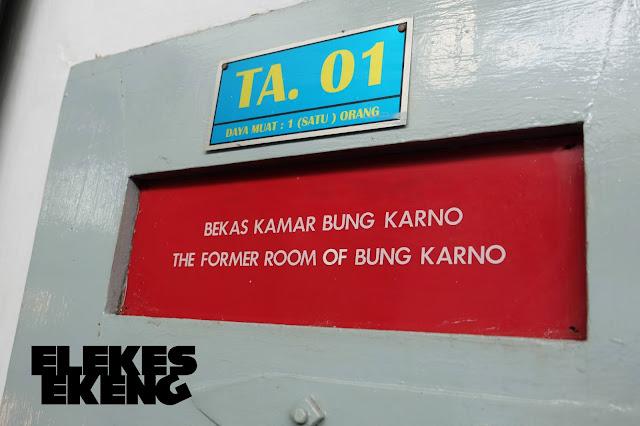 Pintu ruang tahanan penjara Bung Karno di Lapas Sukamiskin