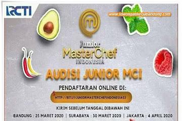 Lowongan Kerja Bandung Audisi Junior Master Chef Indonesia