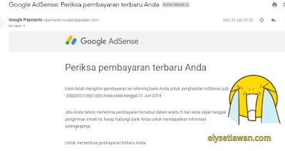 pembayaran adsense blog mas ely