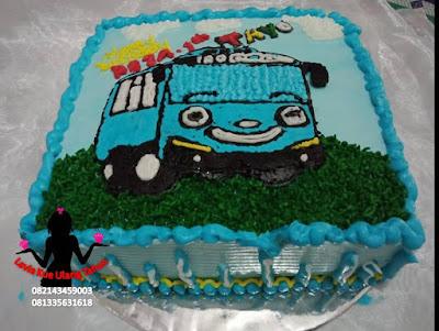 Kue Tart Ulang Tahun Gambar Tayo