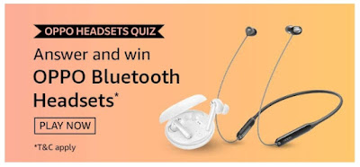 Amazon Oppo Headsets Quiz Answers – Win Oppo Bluetooth Headsets