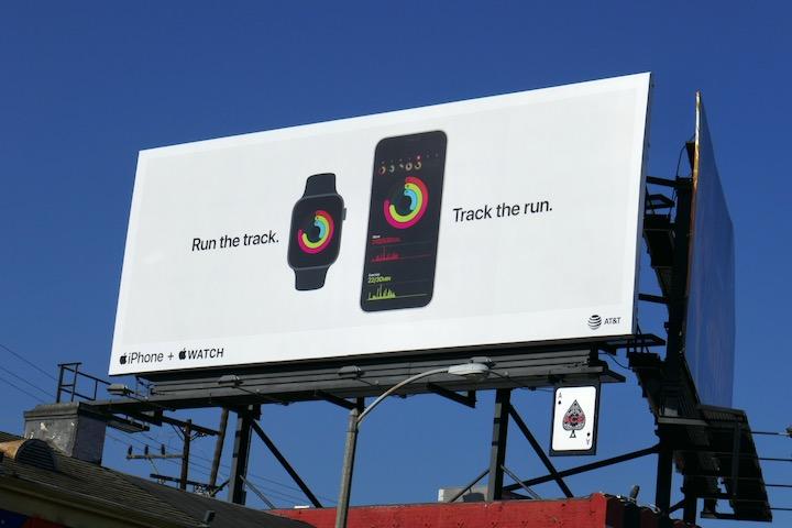 Track the run Apple iPhone Watch billboard