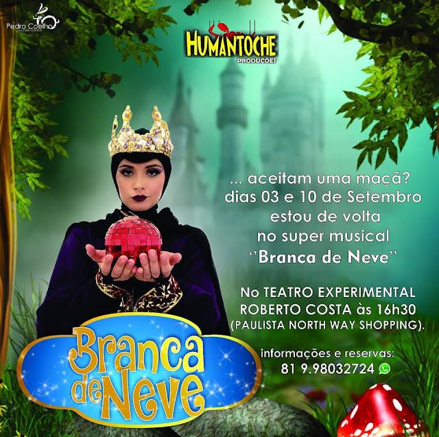 Branca de Neve no Teatro Experimental Roberto Costa da Humantoche Produções