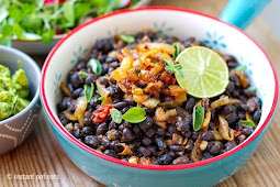 Instant Pot Black Beans and Rice #vegan #vegetarian #soup #breakfast #lunch