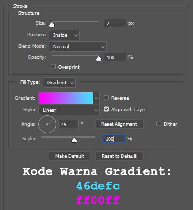Cara membuat bingkai pada desain logo Favicon blog di Photoshop