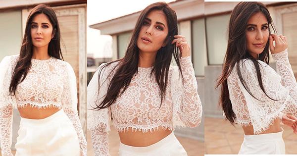 katrina kaif sheer white lacy top bollywood actress we the women festival