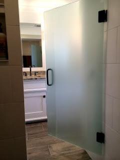 Frosted Frameless Shower Door