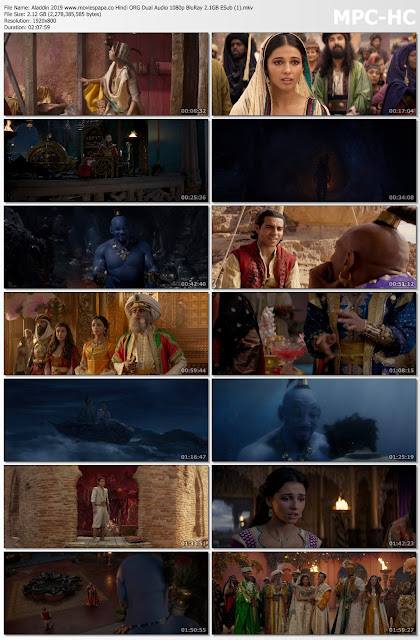 Aladdin 2019 Dual Audio 720p/480p BluRay ORG Download links