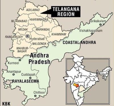 Telangana new born 29th state in india