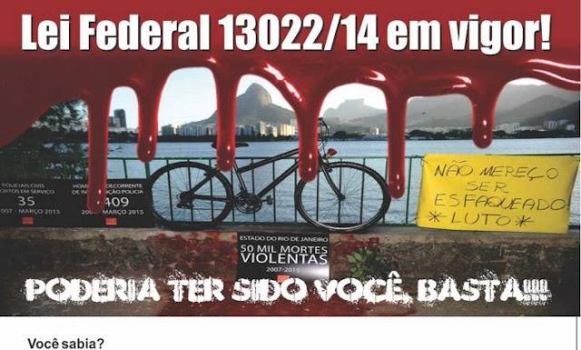 Guardas Municipais do Rio de Janeiro (RJ) fazem campanha pelo uso de armas de fogo