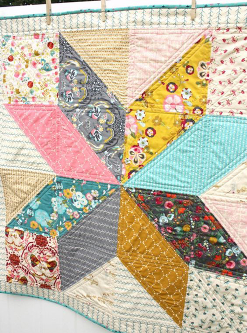 Lone Star Baby Quilt - Tutorial