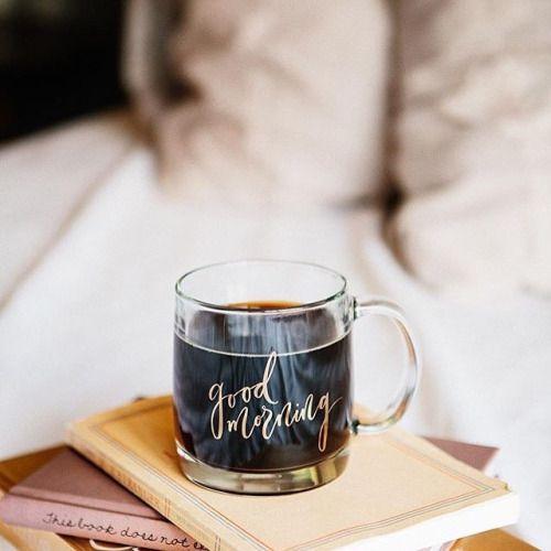 Clear mug for coffee