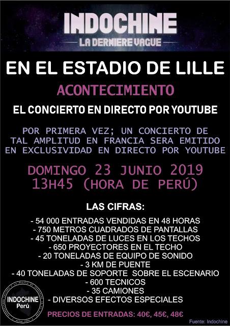 Indochine transmitirá su (último) concierto en directo por Youtube