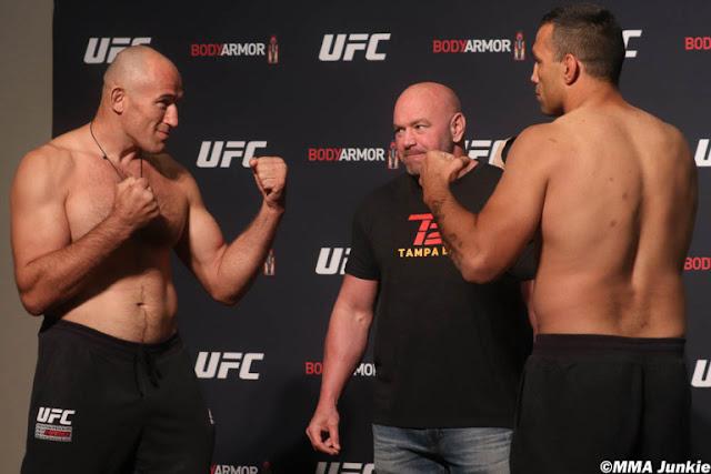 Aleksei Oleinik Fabricio Werdum UFC 249 Weigh In
