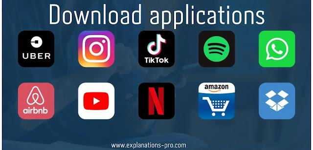 Download applications