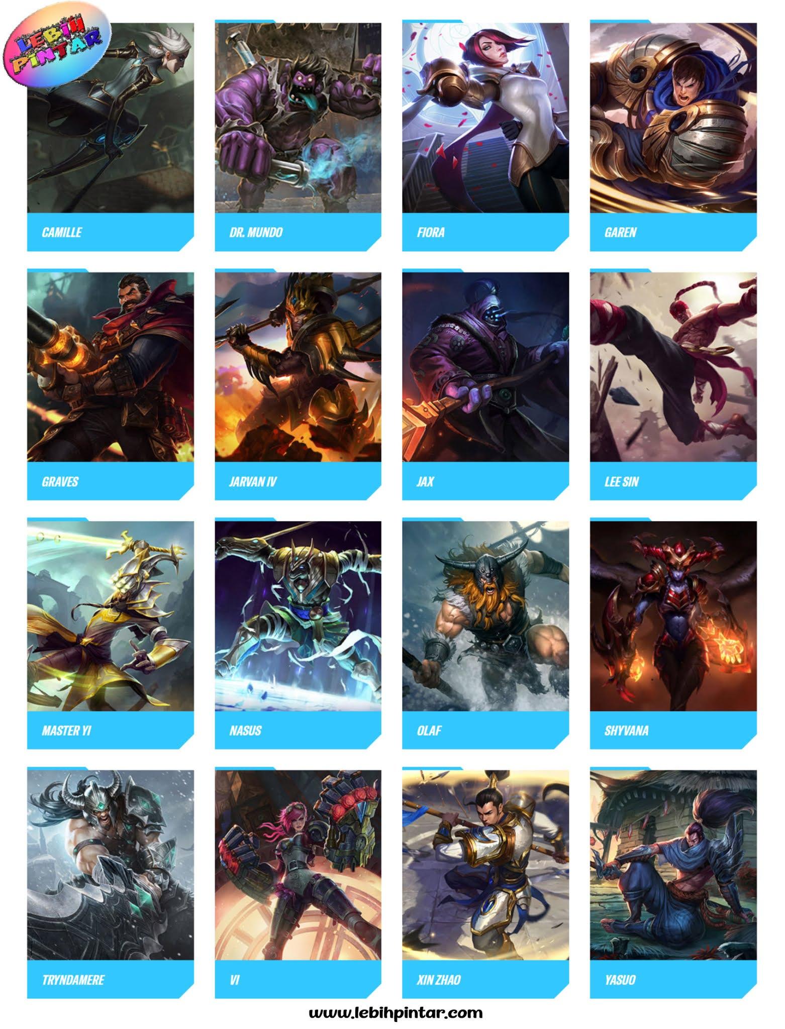 Kumpulan Champion Hero Fighter Lol Mobile Wild Rift Lebih Pintar