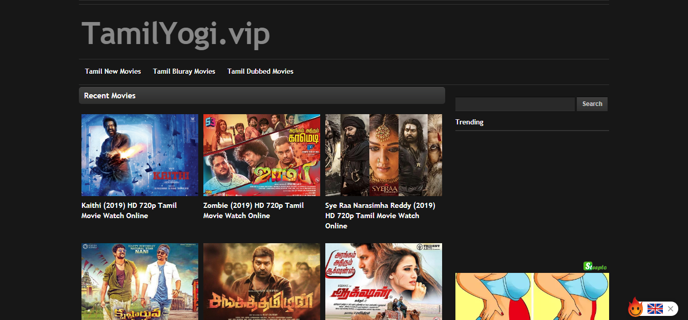 Tamilyogi 2019 Tamil Movies Download Website