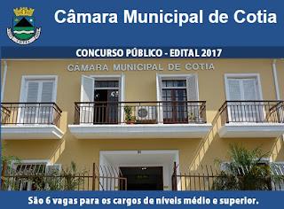 Apostia PDF Câmara de Cotia-SP 2017 - Todos os Cargos - Médio e Superior