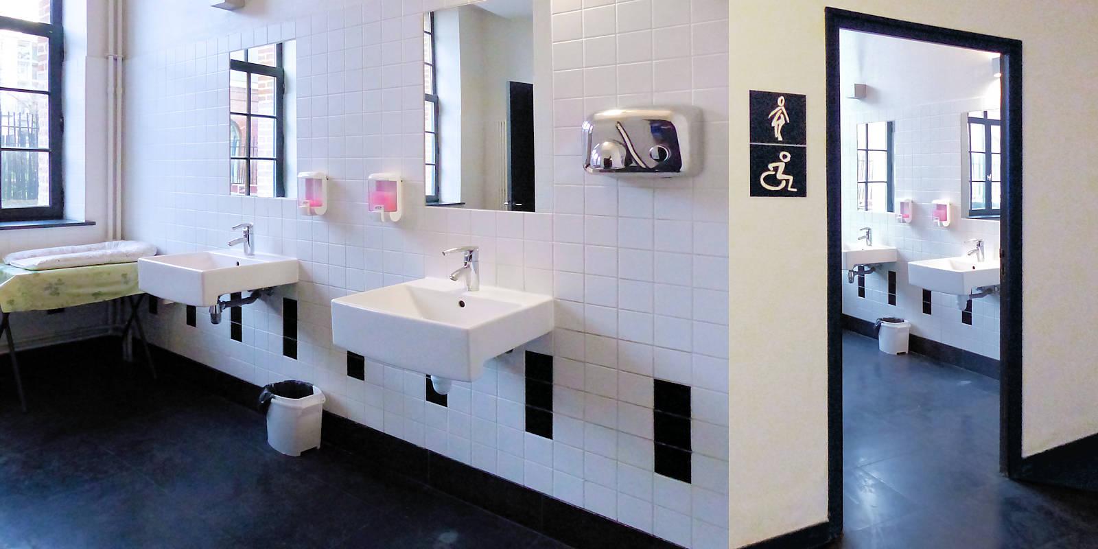 Toilettes femmes et personnes handicapées