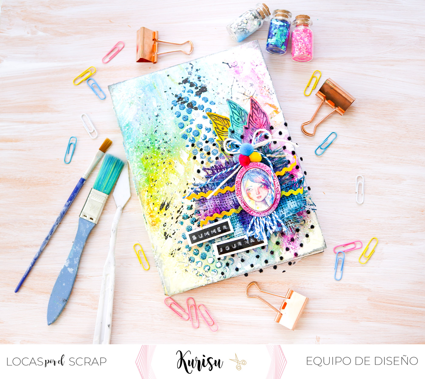 tutorial mixed media art journal por holasoykurisu