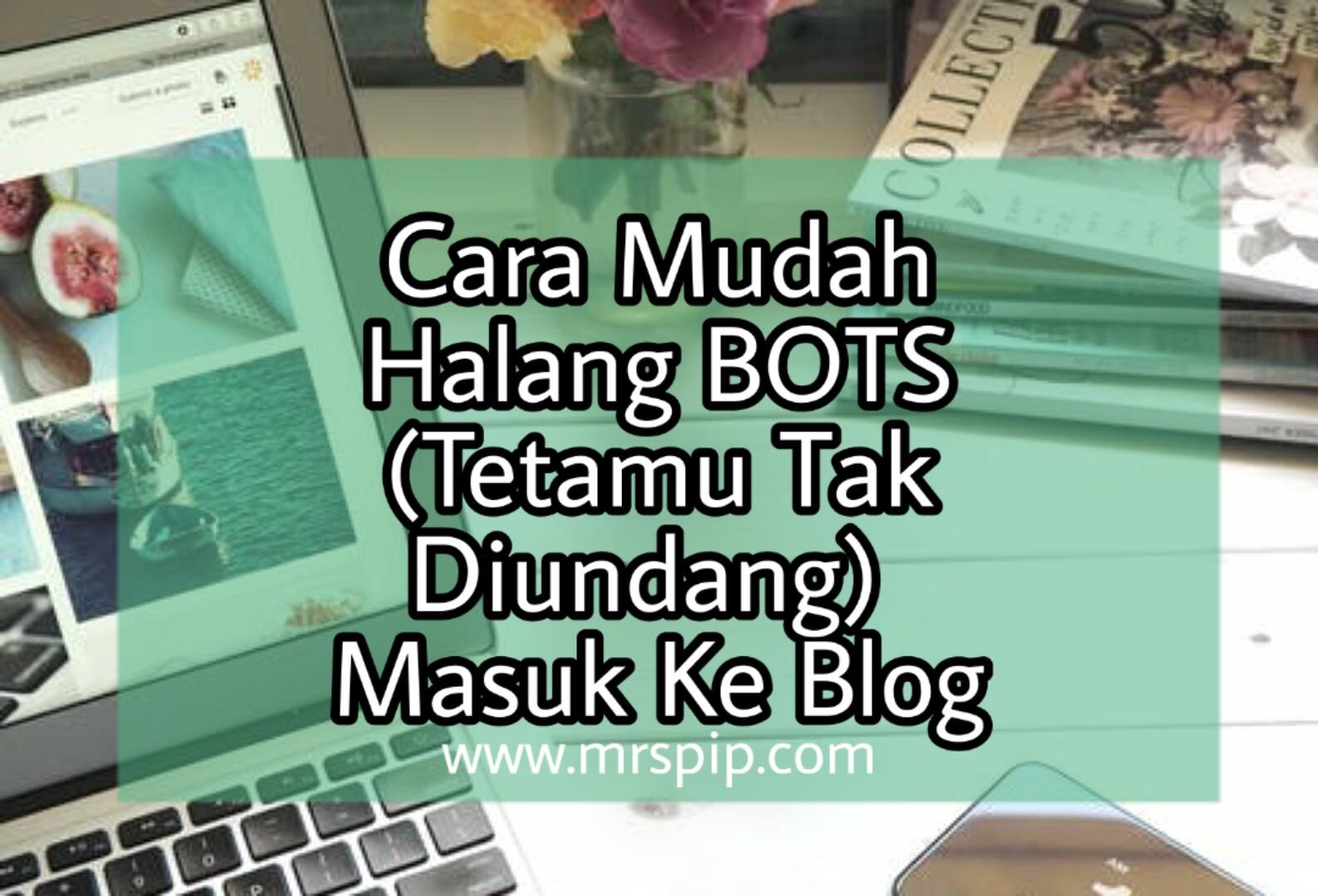 cara mudah halang bitsbots masuk blog