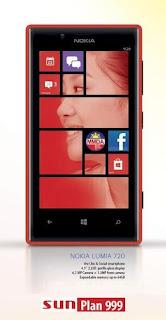 Nokia Lumia 720 Sun Plan 999