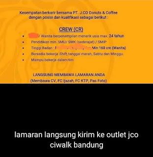 Loker jco Bandung terbaru 2020