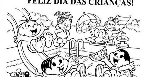 Dia Das Criancas Desenhos E Atividades Colorir Pintar Imprimir Vii