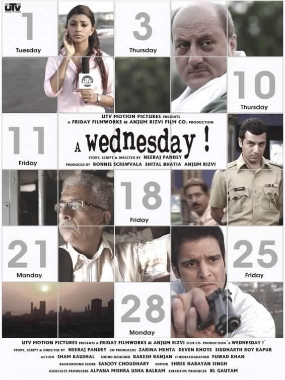 A Wednesday (2008) Hindi HD Movie 480p 720p