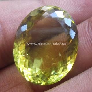Batu Permata Lemon Quartz - ZP 414